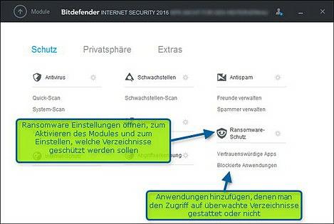 Bitdefender Ransomware Schutz