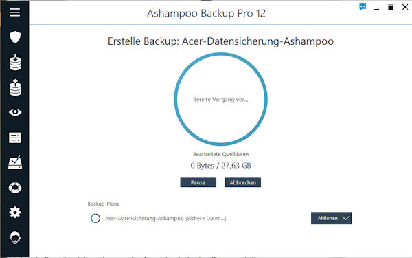 Ashampoo Backup Pro Datensicherung