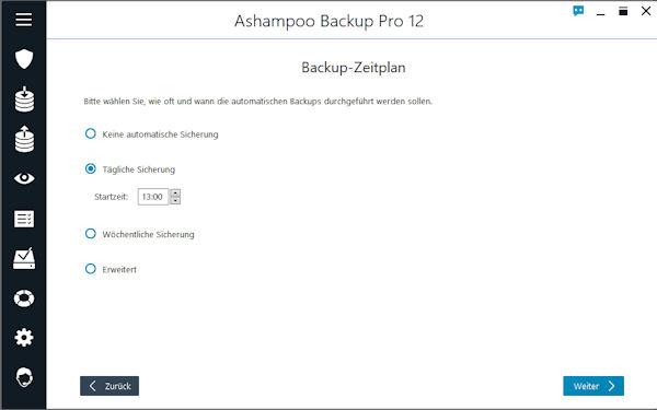 Ashampoo Backup Pro - Backup Zeitplan erstellen